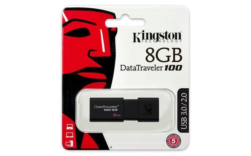 Kingston PENDRIVE 8GB USB 3.0 DT100G3 BLACK
