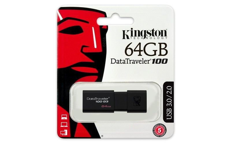 Kingston pamięć USB 64GB DataTraveler 100 G3 USB3.0