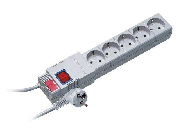 Lestar listwa przeciwprzepięciowa PC-5ST, 1L, SCHUCKO, 1.5m, szara