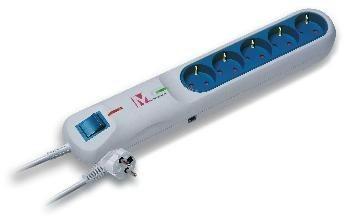 Lestar listwa przeciwprzepięciowa LFT-2001A, 3L EMI/RFI, SCHUCKO, 1.5m, szara