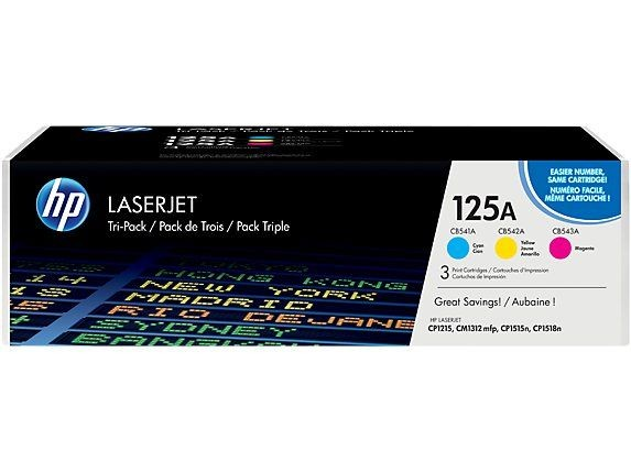 HP Toner HP 125A Tri-pack CYM