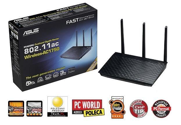 Asus Router RT-AC66U Dualband Wi-fi AC1750 Giga, USB