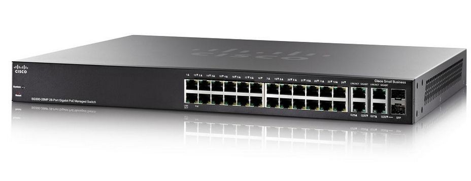 Cisco Systems Cisco SG300-28MP 28-port Gigabit Max-PoE Managed Switch