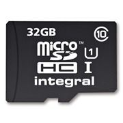 Integral karta pamięci micro SDHC 32GB CL10 + SDHC adapter (transfer do 40MB/s)