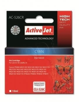 ActiveJet Tusz ActiveJet AC-526CR | Cyan | 10 ml | Canon CLI-526C