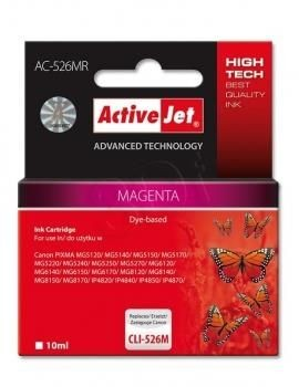 ActiveJet Tusz ActiveJet AC-526MR | Magenta | 10 ml | Canon CLI-526M