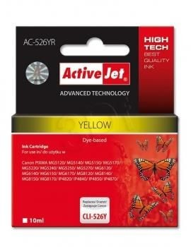 ActiveJet Tusz ActiveJet AC-526YR | Yellow | 10 ml | Canon CLI-526Y