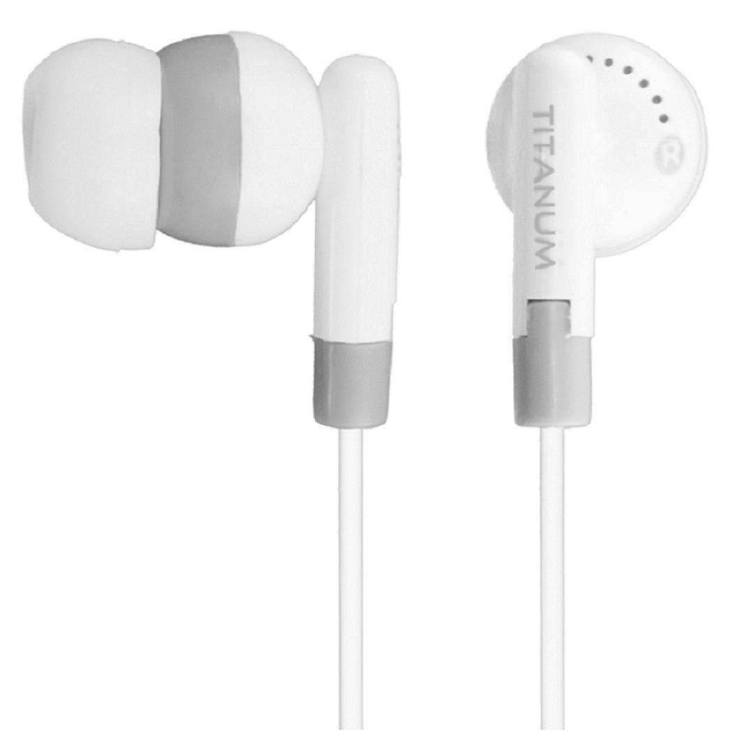Titanum Słuchawki TH103 biało-szare