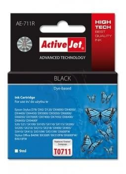ActiveJet Tusz ActiveJet AE-711R | Czarny | 9 ml | Epson T0711, T0891, T1001