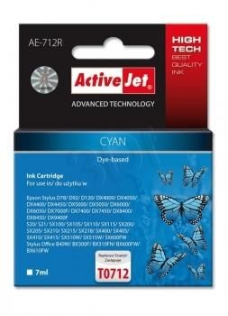 ActiveJet Tusz ActiveJet AE-712R | Cyan | 7 ml | Epson T0712, T0892, T1002