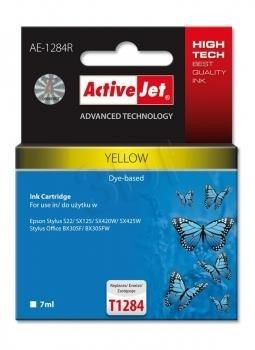 ActiveJet Tusz ActiveJet AE-1284R | Yellow | 7 ml | Epson T1284