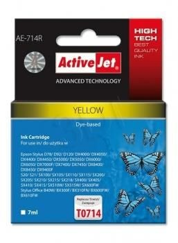 ActiveJet Tusz ActiveJet AE-714R | Yellow | 7 ml | Epson T0714, T0894, T1004
