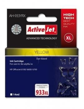 ActiveJet Tusz ActiveJet AH-933YRX | Yellow | 14 ml | HP 933XL CN056AE