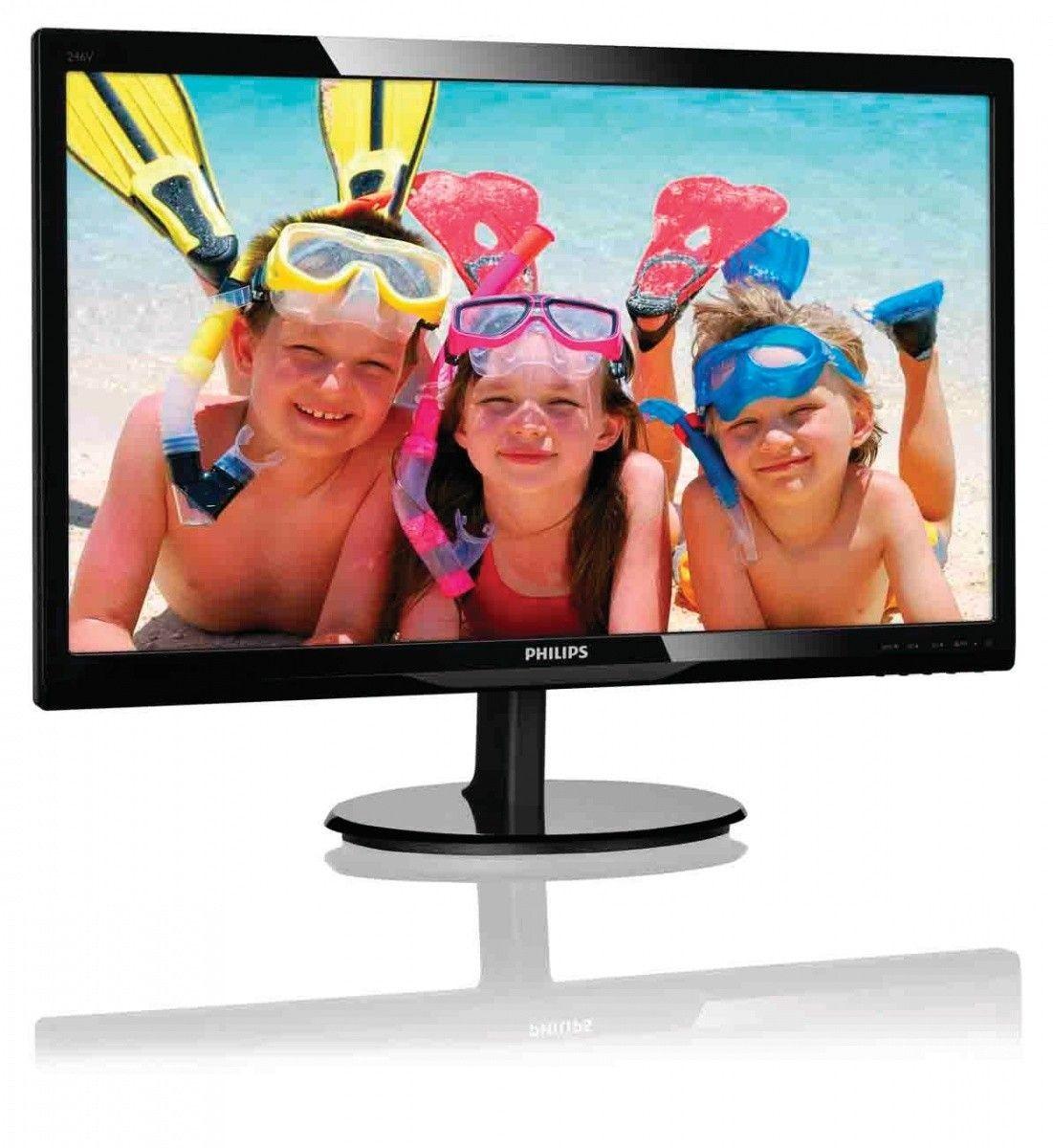 Philips Monitor 246V5LHAB/00; 24'', FullHD, HDMI, głośniki, czarny