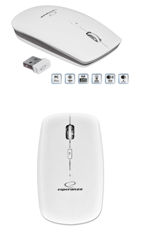 Esperanza MYSZ BEZPRZEWODOWA NANO USB SATURN EM120W