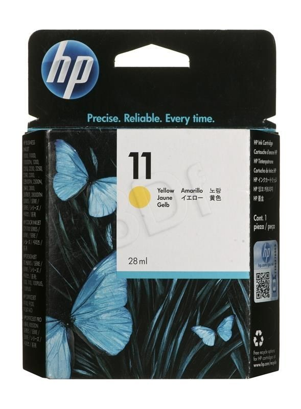 HP Tusz C4838A (oryginał HP11Y HP 11Y; 28 ml; żółty)