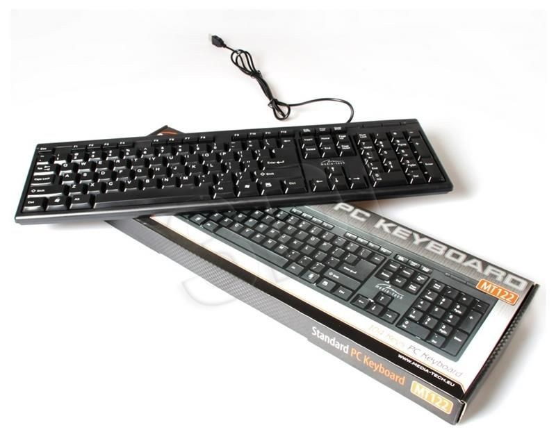 Media-Tech Klawiatura STANDARD KEYBOARD MT122KU-US