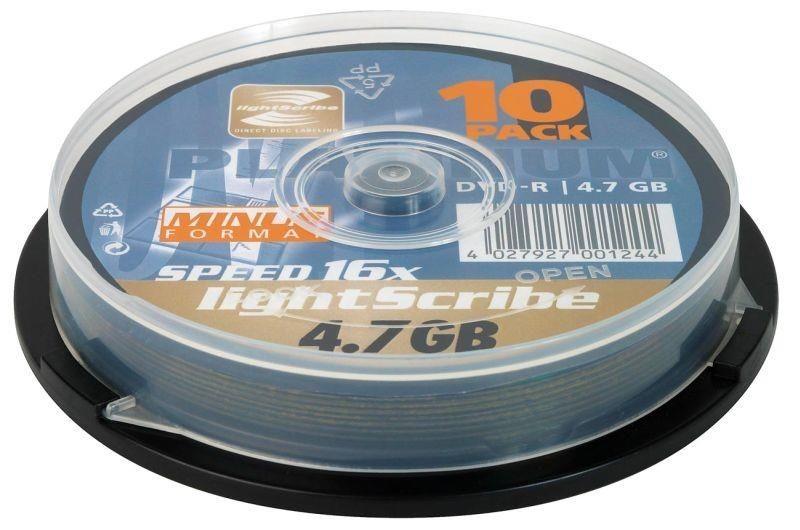 Platinum DVD-R x16 4,7GB (Cake 10) LIGHTSCRIBE