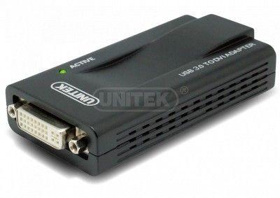 Unitek Konwerter USB 3.0. - DVI/VGA, Y-3801
