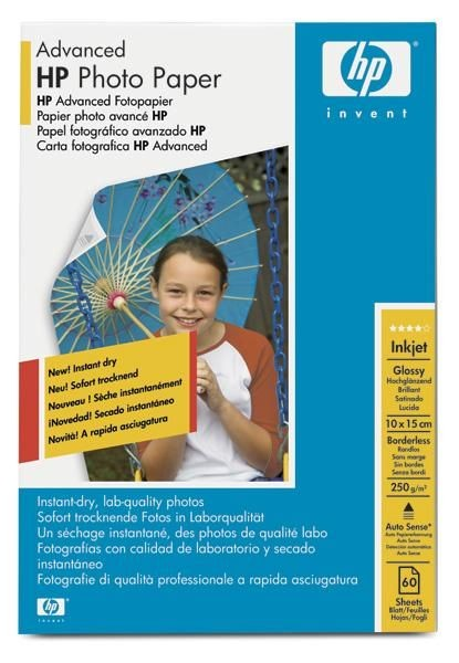 HP Advanced Glossy Photo (250g, 10x15cm borderless, 60ark.)