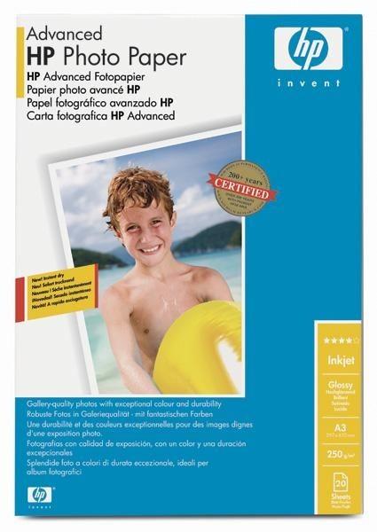 HP Advanced Glossy Photo (250g, A3, 20ark.)