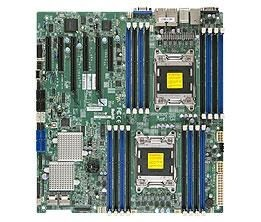 Supermicro DP, Xeon E5-2600 processors, C602 chipset, E-ATX (12 x 13), SAS2 via LSI 2308,