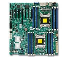 Supermicro DP, Xeon E5-2600 processors, C602 chipset, E-ATX (12 x 13), 7x PCI-E 3.0, SAS2