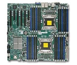 Supermicro DP, Xeon E5-2600 processors, C602 chipset, EE-ATX (13.68 x 13), 24 DIMM, 4x Gb