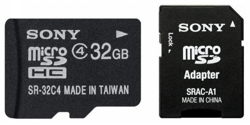 Sony Karta microSD 32 GB z adaptorem klasa 4