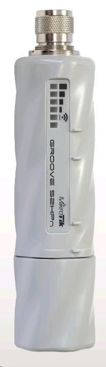 MikroTik Groove 52 with N-male connector, High Gain Single Chain 2.4GHz / 5GHz 802.11abgn wireless, 600MHz CPU, 64MB RAM, 1x LAN