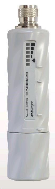 MikroTik RouterBOARD Groove-52HPn, 600MHz CPU, 64MB RAM, 1x LAN, integr. 2.4/5GHz Wi-Fi, 802.11b/g/a/n, vč. L3 licence