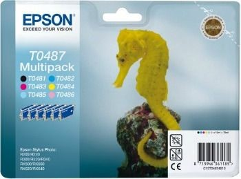Epson 6-pack (Stylus Photo R200/300/320/340, RX500/600/640)