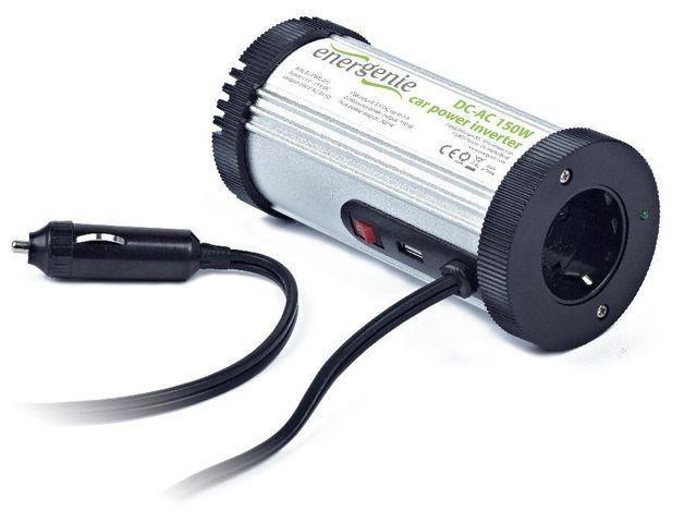 EnerGenie Przetwornica samochodowa Energenie 12V->230V+USB 5V 150W