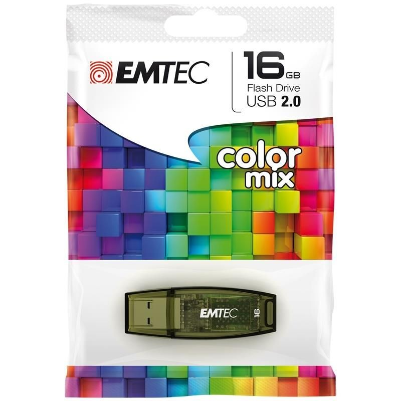Emtec Flashdrive C410 16GB USB 2.0 color mix