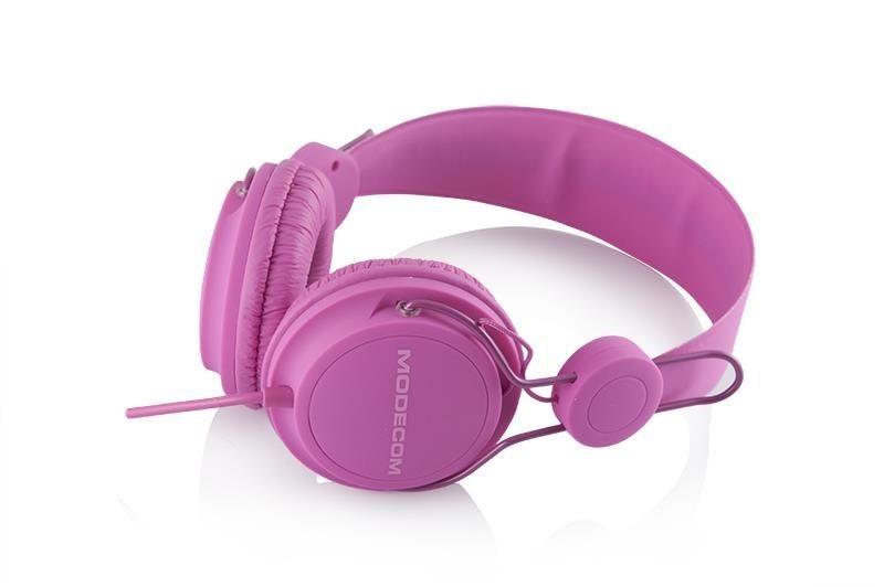 ModeCom Słuchawki z mikrofonem Modecom MC-400 FRUITY różowe