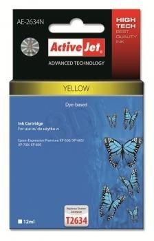 ActiveJet Tusz ActiveJet AE-2634N | Yellow | 12 ml | Epson T2634
