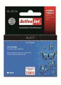 ActiveJet Tusz ActiveJet AE-1811N | Czarny | 18 ml | Epson T1811