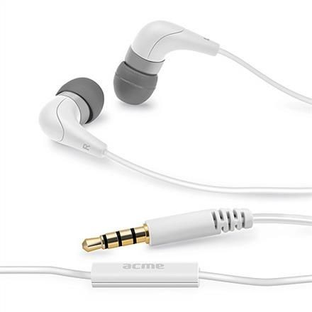 Acme Słuchawki z mikrofonem ACME HE15W Groovy białe