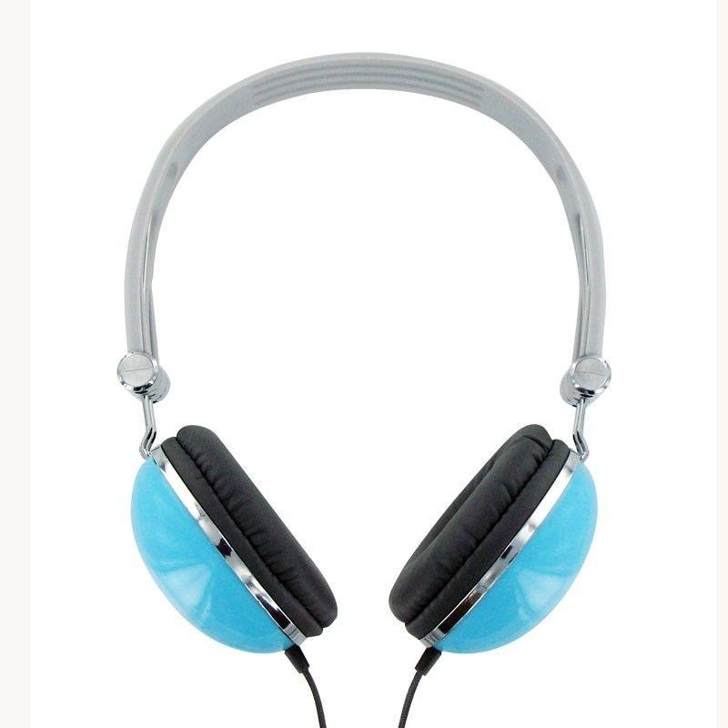 4World Słuchawki stereofoniczne z wygodnymi nausznikami ''Colors'', błękitne