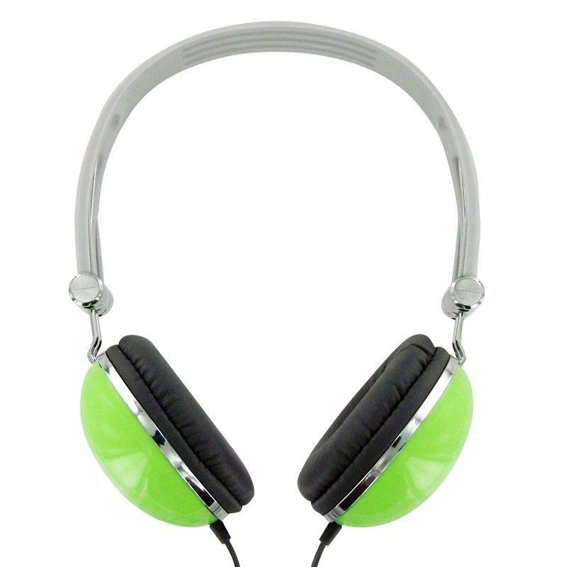 4World Słuchawki stereo pałąk zielone 06533
