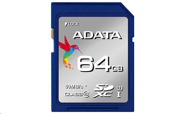 A-Data Karta SD Card UHS-I CL10 Class 10 64GB