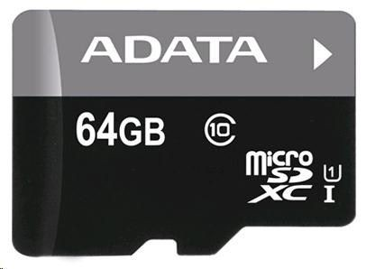 A-Data Premier UHS-I 64 GB, MicroSDXC, Flash memory class 10, USB
