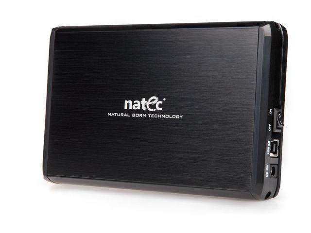 NATEC RHINO obudowa USB 3.0 na dysk HDD 3.5'' SATA, czarna Aluminium