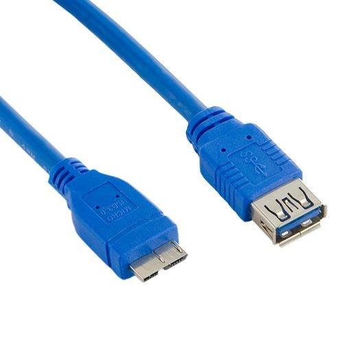 4World Kabel USB 3.0 AF- Micro BM 3.0m| niebieski
