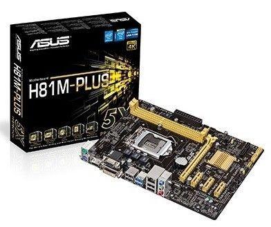 Asus Płyta główna H81M-PLUS Socket 1150 uATX