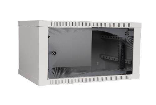 Apranet apra-optinet ecoVARI szafa wisząca 19'' 6U/400mm, jednosekcyjna, drzwi szklane