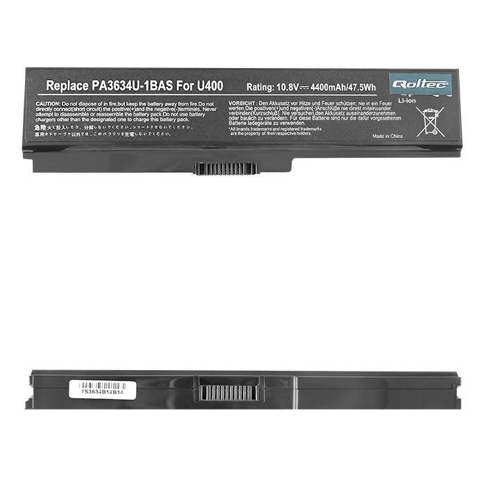 Qoltec Bateria do laptopa Long Life - Toshiba PA3634, 10.8-11.1 V | 4400 mAh