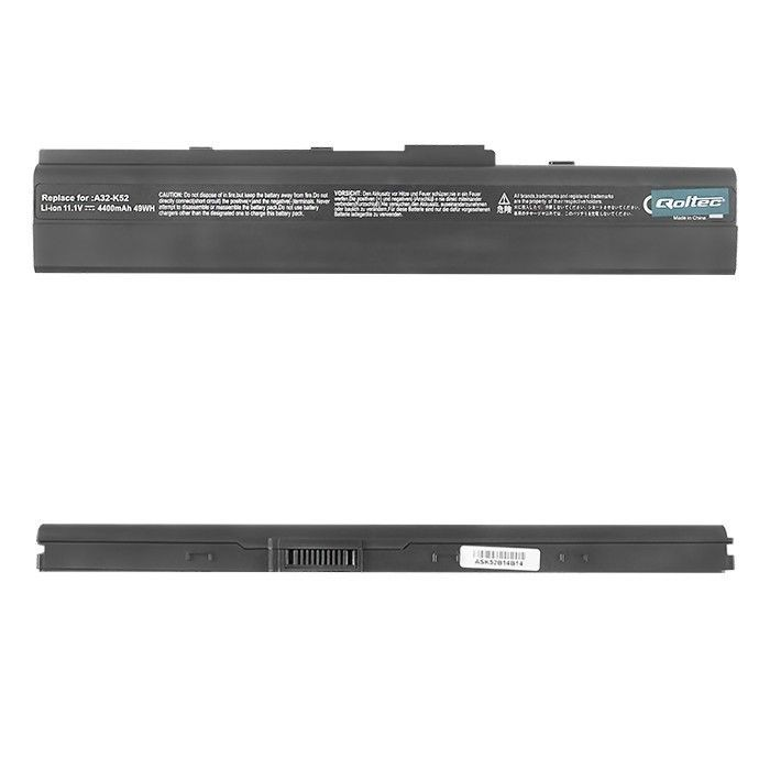 Qoltec Bateria do laptopa Long Life - Asus A32-K52 X42, 10.8-11.1 V | 4400 mAh