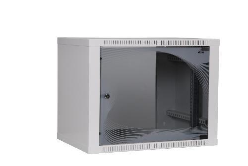 Apranet apra-optinet ecoVARI szafa wisząca 19'' 9U/400mm, jednosekcyjna, drzwi szklane
