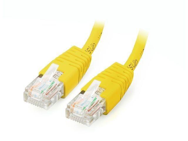 Equip patchcord RJ45, kat. 6, UTP, 0.5m, zółty